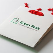 Green Foil Hot Stamp Paper Bag