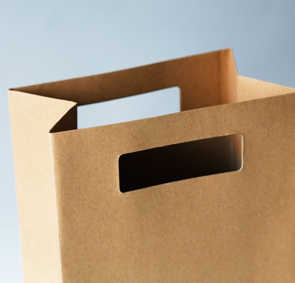 die-cut handle shopping bags